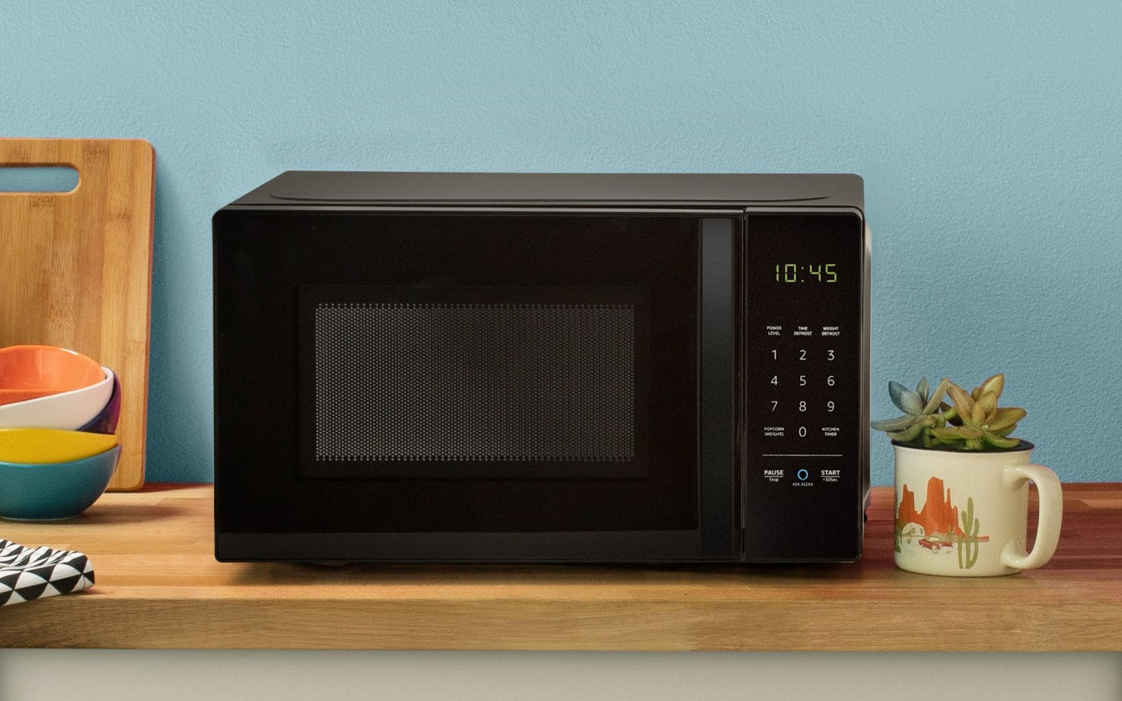 AmazonBasics microwave is controlled using voice
